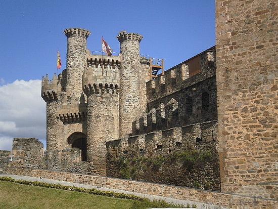 Ponferrada Castle in Léon Spain