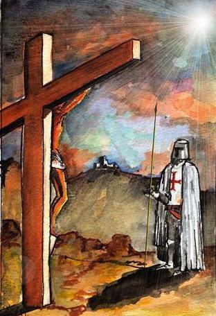 Cross with Templar